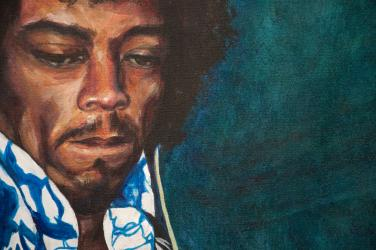 Jimi James and His Blue Flame Closeup